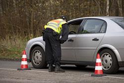 Geschwindigkeitskontrolle durch die Polizei